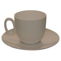 Round coffee saucer 12.5 cm . 4 in 15/16