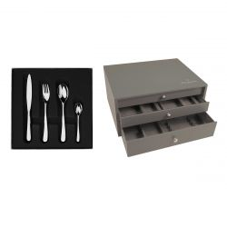 124 pieces solid handle serrated box set