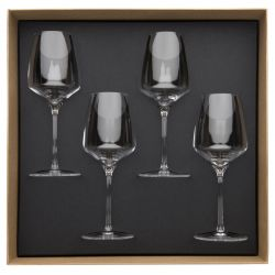 Gift box of 4 red wine glasses 35 cl