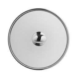 Stainless steel lid 18 cm with button