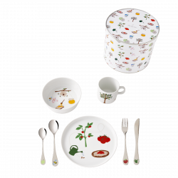 7 pieces tableware and cutlery children gift box