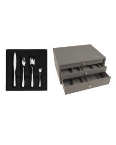 100 pieces solid handle serrated box set