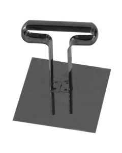 Square stainless steel push 6x6 cm