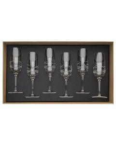 Gift box of 6 champagne flute 20 cl