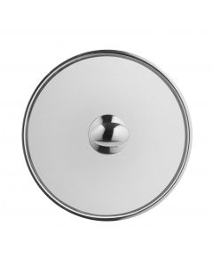Stainless steel lid 28 cm with button