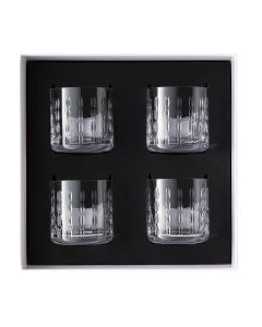 Gift box of 4 whisky tumblers 37 cl
