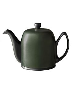 Tea pot 6 cups with black felt emerald color aluminium lid