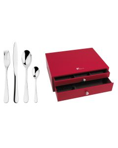 75 pieces solid handle serrated box set