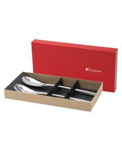 Gift box of salad serving set