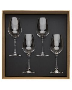 Gift box of 4 red wine glasses 37 cl