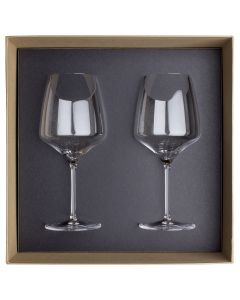 Gift box of 2 burgundy glasses 70 cl