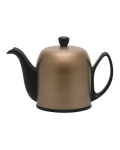 Tea pot 6 cups with black felt bronze aluminium lid